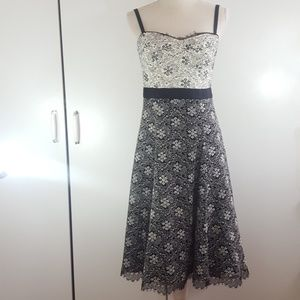 Nanette Lepore sz 8 Lace Floral Printed Dress